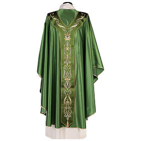 Chasuble in silk wool with embroidery s7