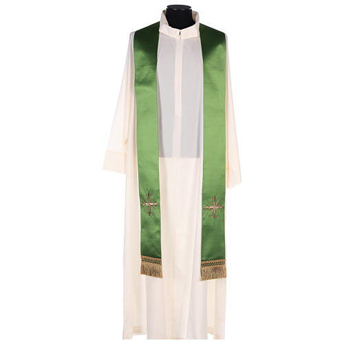 Chasuble in silk wool with embroidery 8