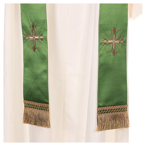 Chasuble in silk wool with embroidery 9