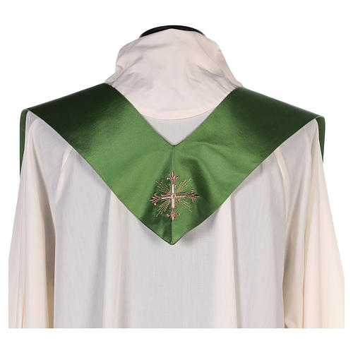 Chasuble in silk wool with embroidery 10