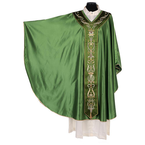 Chasuble in silk wool with embroidery 3