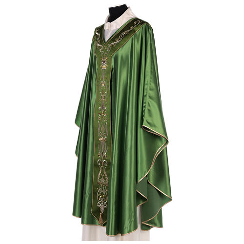 Chasuble in silk wool with embroidery 6