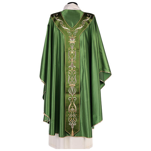 Chasuble in silk wool with embroidery 7