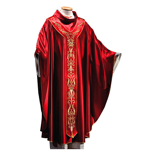 Silk Wool Chasuble with embroidery 2