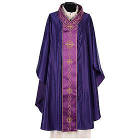 Chasuble in wool with embroidered gallon s1