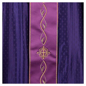 Chasuble in wool with embroidered gallon s4