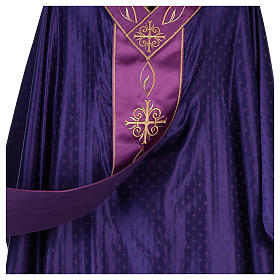 Chasuble in wool with embroidered gallon s6