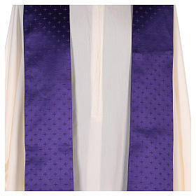 Chasuble in wool with embroidered gallon s10