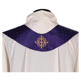 Chasuble in wool with embroidered gallon s11