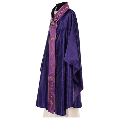 Chasuble in wool with embroidered gallon 5