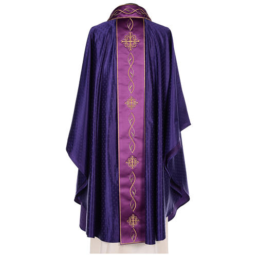 Chasuble in wool with embroidered gallon 7