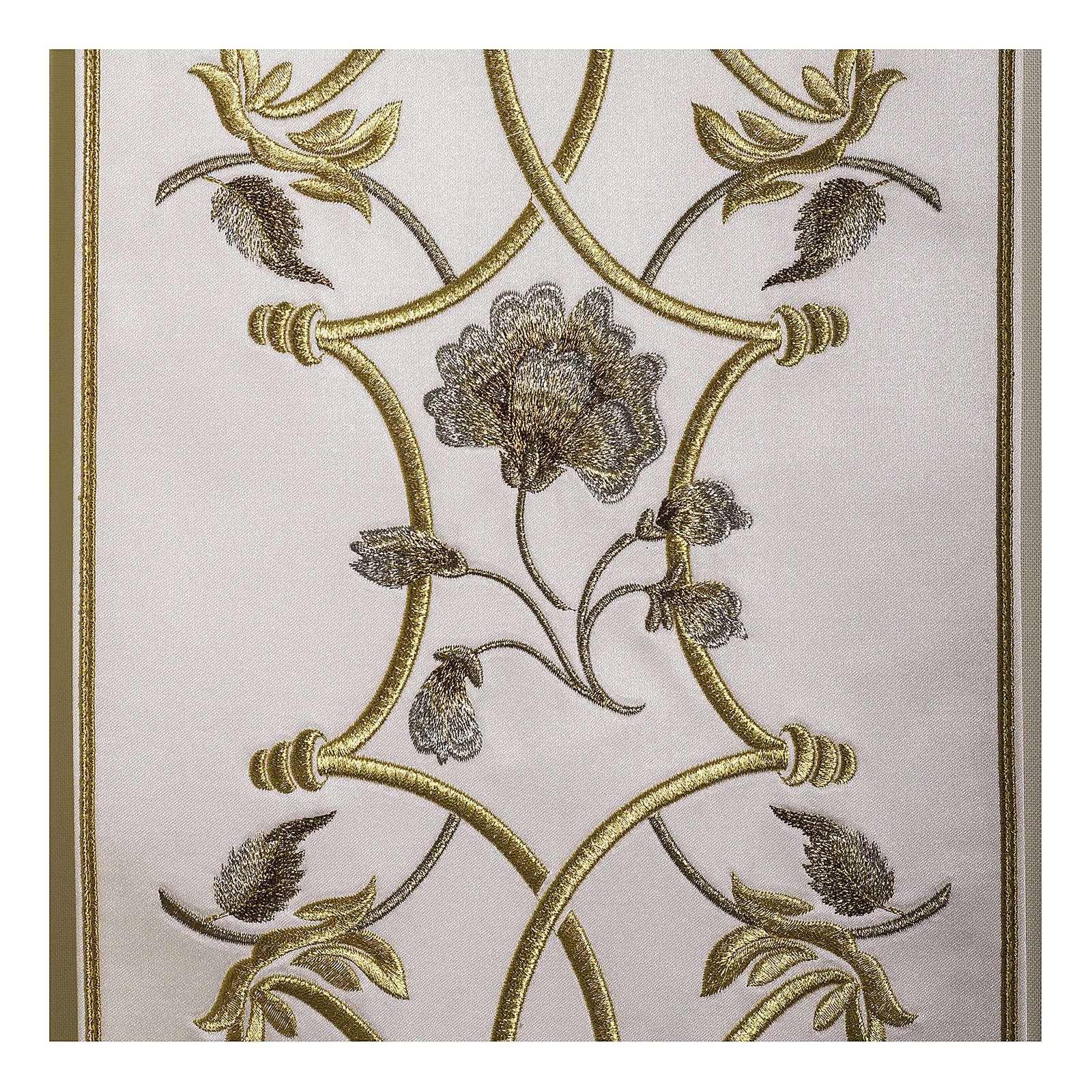 Casula pura lana fiori croce ricamata direttamente sullo stolone 4