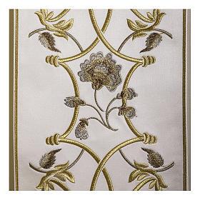 Casula pura lana fiori croce ricamata direttamente sullo stolone s3