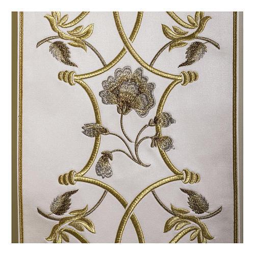 Casula pura lana fiori croce ricamata direttamente sullo stolone 3