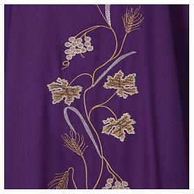 Casula su tessuto di pura lana tralci uva applicati sul mantello s2