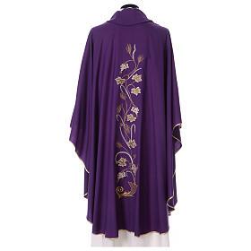 Casula su tessuto di pura lana tralci uva applicati sul mantello s4