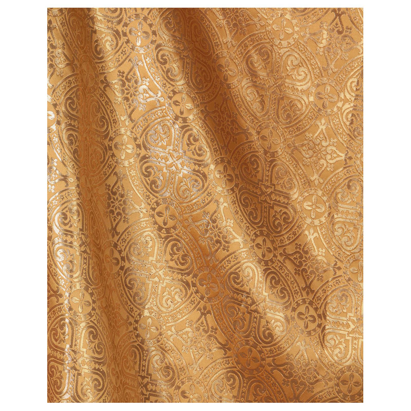 Casulla oro con tejido de broderie entorchado mm 118 4
