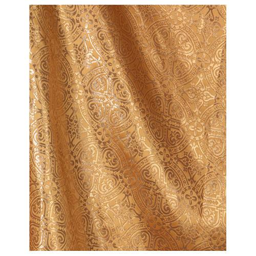 Casulla oro con tejido de broderie entorchado mm 118 3