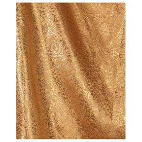 Casula Dourada Tecido Bordado Galão Central Vermelho s3