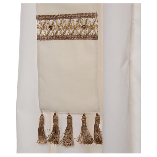 Chasuble with golden braided neckline 100% wool 7