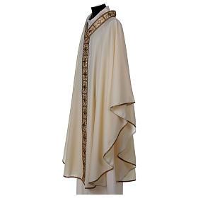Casulla 100% lana con cuello pasamanería oro s3