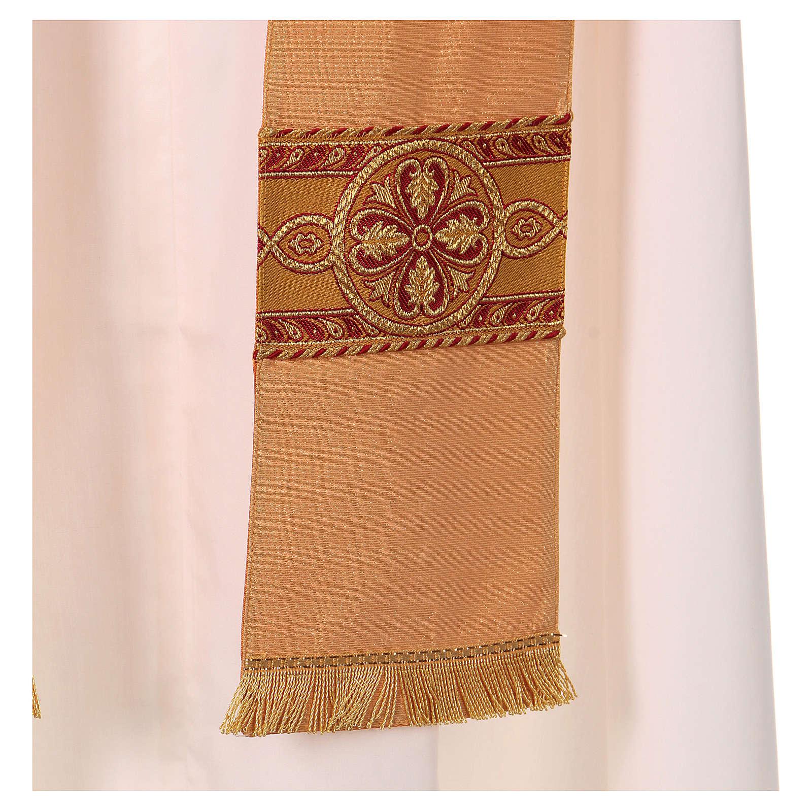 Casula tessuto di lana poliestere e lurex gallone applicazione diretta su mantello 4