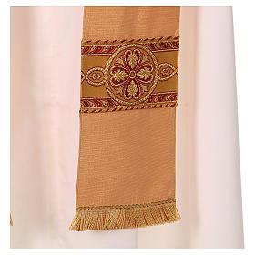 Casula tessuto di lana poliestere e lurex gallone applicazione diretta su mantello s5