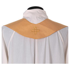 Casula tessuto di lana poliestere e lurex gallone applicazione diretta su mantello s6