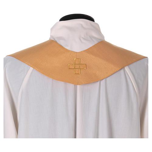 Casula tessuto di lana poliestere e lurex gallone applicazione diretta su mantello 6