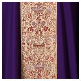 Casula su tessuto in pura lana con stolone e collo in lampasso s2