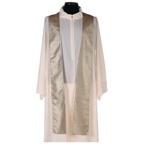 Chasuble in polyester with machine-embroidered cross on the front, gold 5