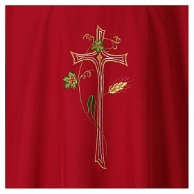 Chasuble in polyester with machine-embroidered cross s2