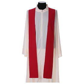 Chasuble in polyester with machine-embroidered cross s4