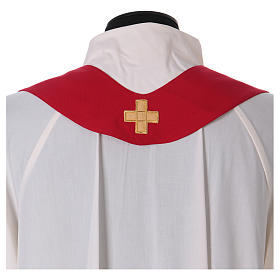 Chasuble in polyester with machine-embroidered cross s5