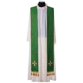 Chasuble and stole with cross and stones 100% polyester s8