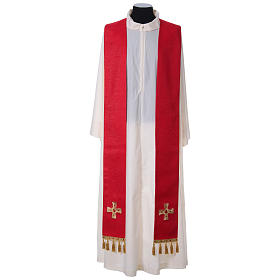 Chasuble and stole with cross and stones 100% polyester s9