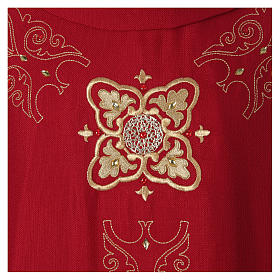 Chasuble and stole with embroidery, Italian neckline s2