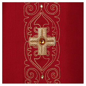 Chasuble and stole with embroidery, Italian neckline s4