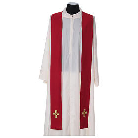 Chasuble and stole with embroidery, Italian neckline s6