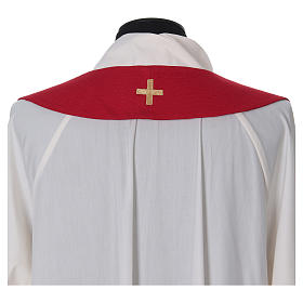 Chasuble and stole with embroidery, Italian neckline s8