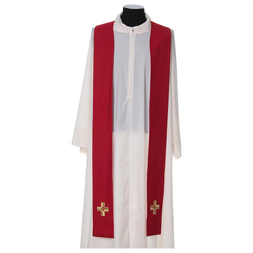 Chasuble and stole with embroidery, Italian neckline 6