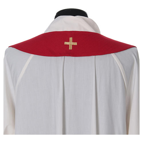 Chasuble and stole with embroidery, Italian neckline 8
