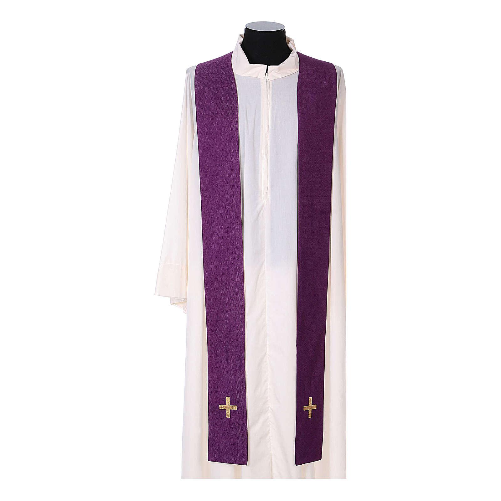 Chasuble and stole, Italian neckline 4