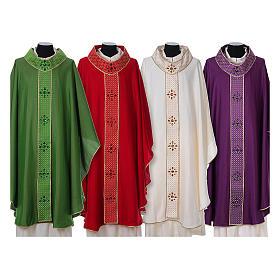 Chasuble and stole, Italian neckline s1