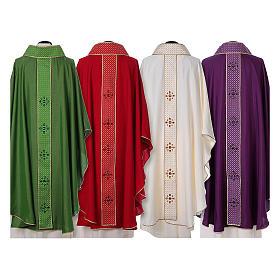 Chasuble and stole, Italian neckline s2