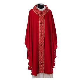 Chasuble and stole, Italian neckline s4