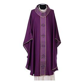 Chasuble and stole, Italian neckline s6