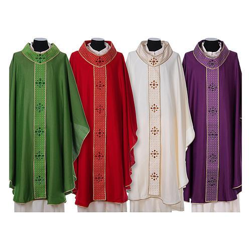 Chasuble and stole, Italian neckline 1
