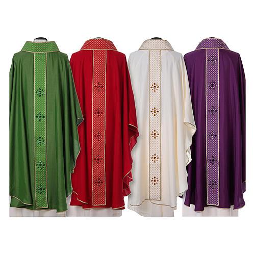 Chasuble and stole, Italian neckline 2