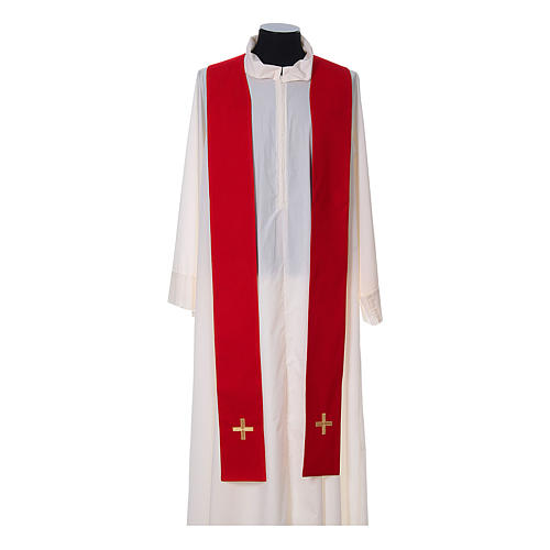 Chasuble and stole, Italian neckline 12